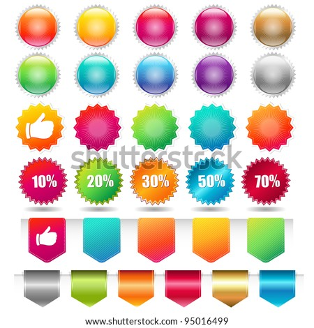 Sale Shopping Badge And Labels, Isolated On White Background