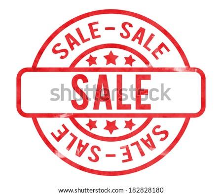 Sale Stamp - stock photo