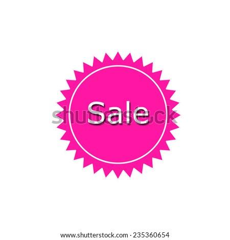 Sale Sticker - stock photo