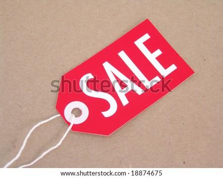 sale tag - stock photo