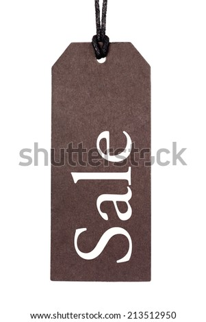 Sale Tag Isolated On White - stock photo