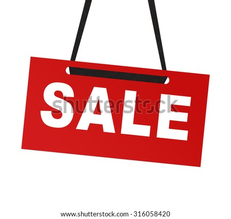 Sale tag isolated on white background - stock photo