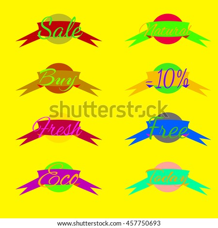 Sale tags label icon. Shopping banners set.