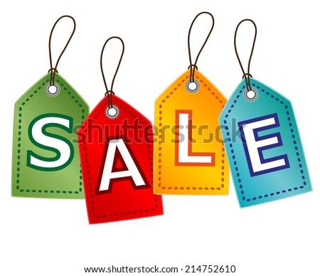 Sale Tags. Raster version - stock photo