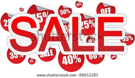 Sale text banner - stock photo