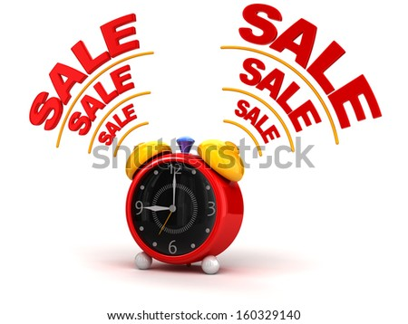 sale time on alarm clock