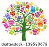 Sale tree isolated on White background.  illustration - stock vector
