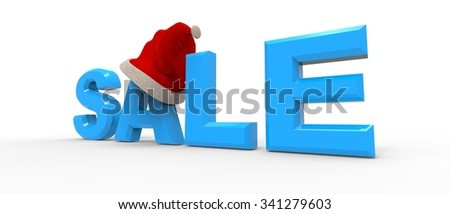Sale word with a Santa hat / Christmas Sale