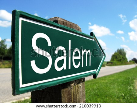 Salem signpost along a rural road