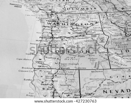 Oregon State Map Stock Images RoyaltyFree Images Vectors - Map of the state of oregon