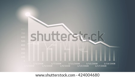 Sales dynamics data - stock photo