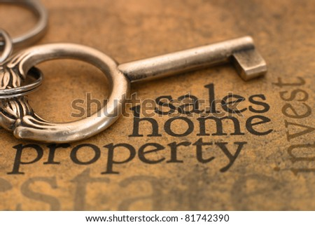 Sales home property - stock photo