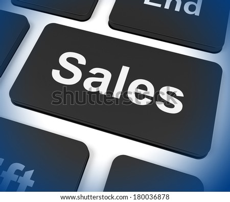 Sales Key Showing Promotions And Deals