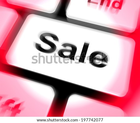 Sales Keyboard Showing Promotions And Deals