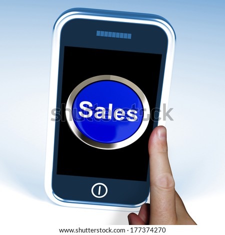 Sales On Phone Showing Promotions And Deals
