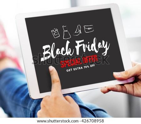 Sales Promotion Discount Shopaholics Shopping Concept - stock photo