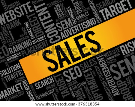 SALES word cloud, business concept