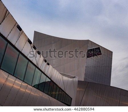 Salford Quays, Salford, Manchester, Gtr Manchster, UK. August 1st 2016. Imperial War Museum at Salford Quays. Salford Quays, Salford, Manchester, Gtr Manchster, UK
