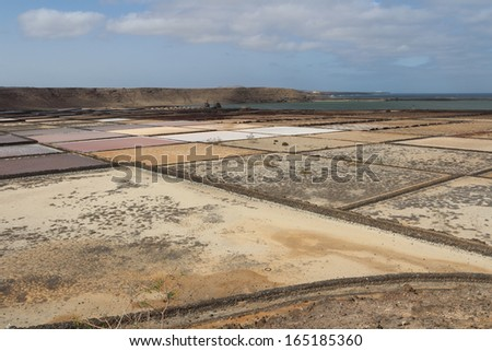 saline on the canary island of Lanzarote
