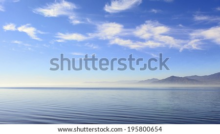 Saline Sea in SE California that was created by the Colorado River diversion in 1905. - stock photo