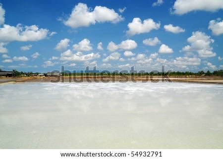 Saline,Sky,Cloud - stock photo