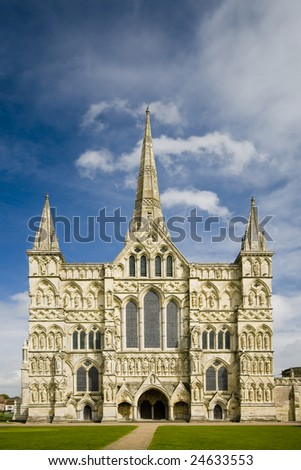 Salisbury Cathedral, Wiltshire - stock photo