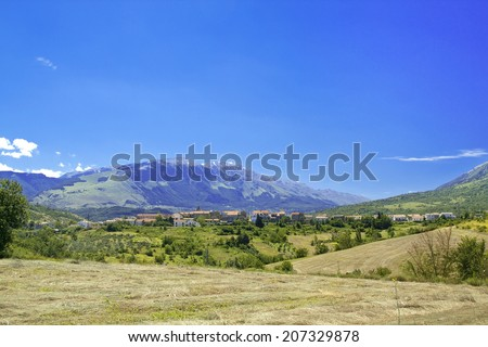 Salle is a small village in the Maiella National Park, Abruzzo region, Italy. Well known for violin strings production - stock photo