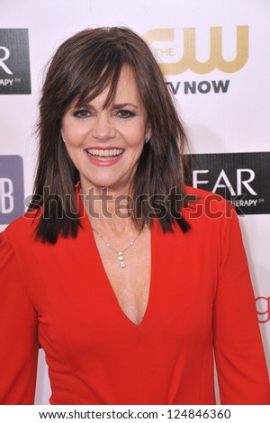 Sally Field at the 18th Annual Critics' Choice Movie Awards at Barker Hanger, Santa Monica Airport. January 10, 2013  Santa Monica, CA Picture: Paul Smith - stock photo