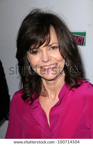 "Sally Field at the West Coast Premiere Reading of ""8"" Shows, Wilshire Ebell Theater, Los Angeles, CA 03-03-12 - stock photo"