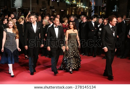 Salma Hayek and John C. Reilly attend the 'Il Racconto Dei Racconti' Premiere during the 68th annual Cannes Film Festival on May 14, 2015 in Cannes, France. - stock photo