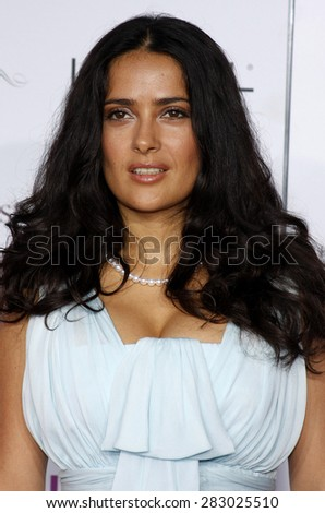 Salma Hayek at the Los Angeles premiere of 'Vicky Cristina Barcelona' held at the Mann Village Theatre in Westwood on August 4, 2008.