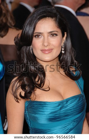 SALMA HAYEK at the 78th Annual Academy Awards at the Kodak Theatre in Hollywood. March 5, 2006  Los Angeles, CA  2006 Paul Smith / Featureflash - stock photo