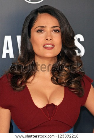 Salma Hayek attending the Savages Photocall held at The Mandarin Oriental, London. 19/09/2012
