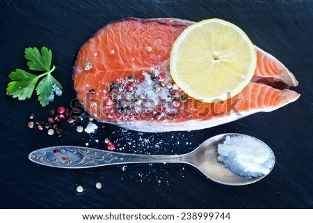 salmon - stock photo