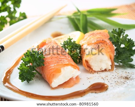 salmon and cheese rolls