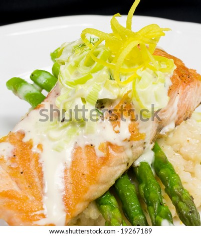 Salmon, Asparagus, Lemon Twirl Detail