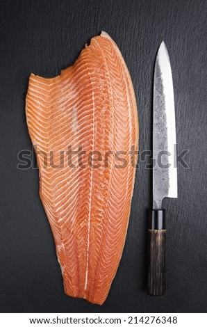 salmon filet - stock photo