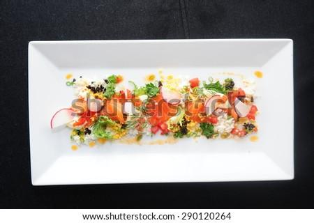 salmon salad - salmon salad - salmon salad-salmon salad - stock photo