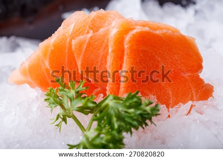 Salmon sashimi - japanese food style
