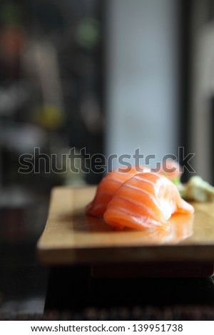 Salmon Sushi - stock photo