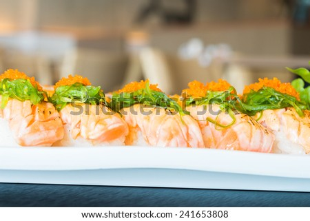 Salmon sushi - japanese food
