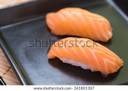 Salmon Sushi, Japanese food