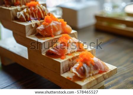 Sushi Fish Eggs Stock Photos, Royalty-Free Images & Vectors ...