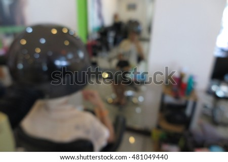 Salon beauty interior, abstract blur background