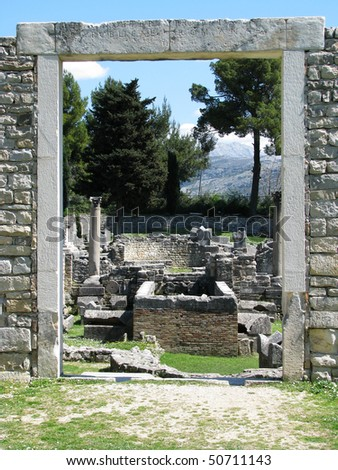 Salona ruins near Split, Croatia - stock photo
