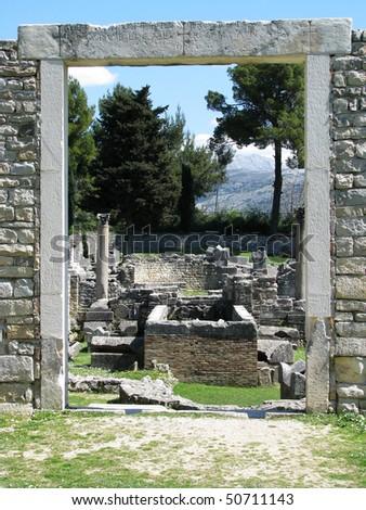 Salona ruins near Split, Croatia - stock photo