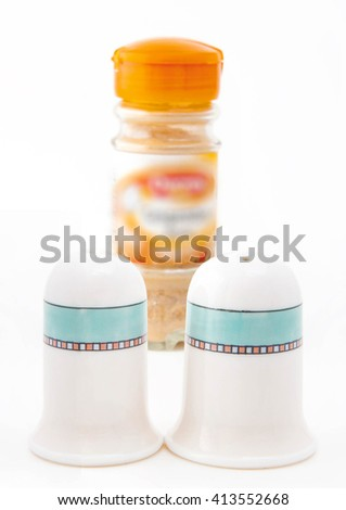 salt and paper - stock photo