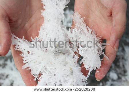 salt crystals - stock photo