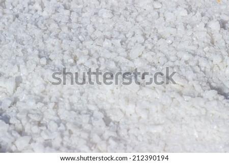 Salt crystals closeup - stock photo