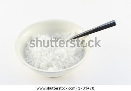 Salt - fleur de sel - stock photo